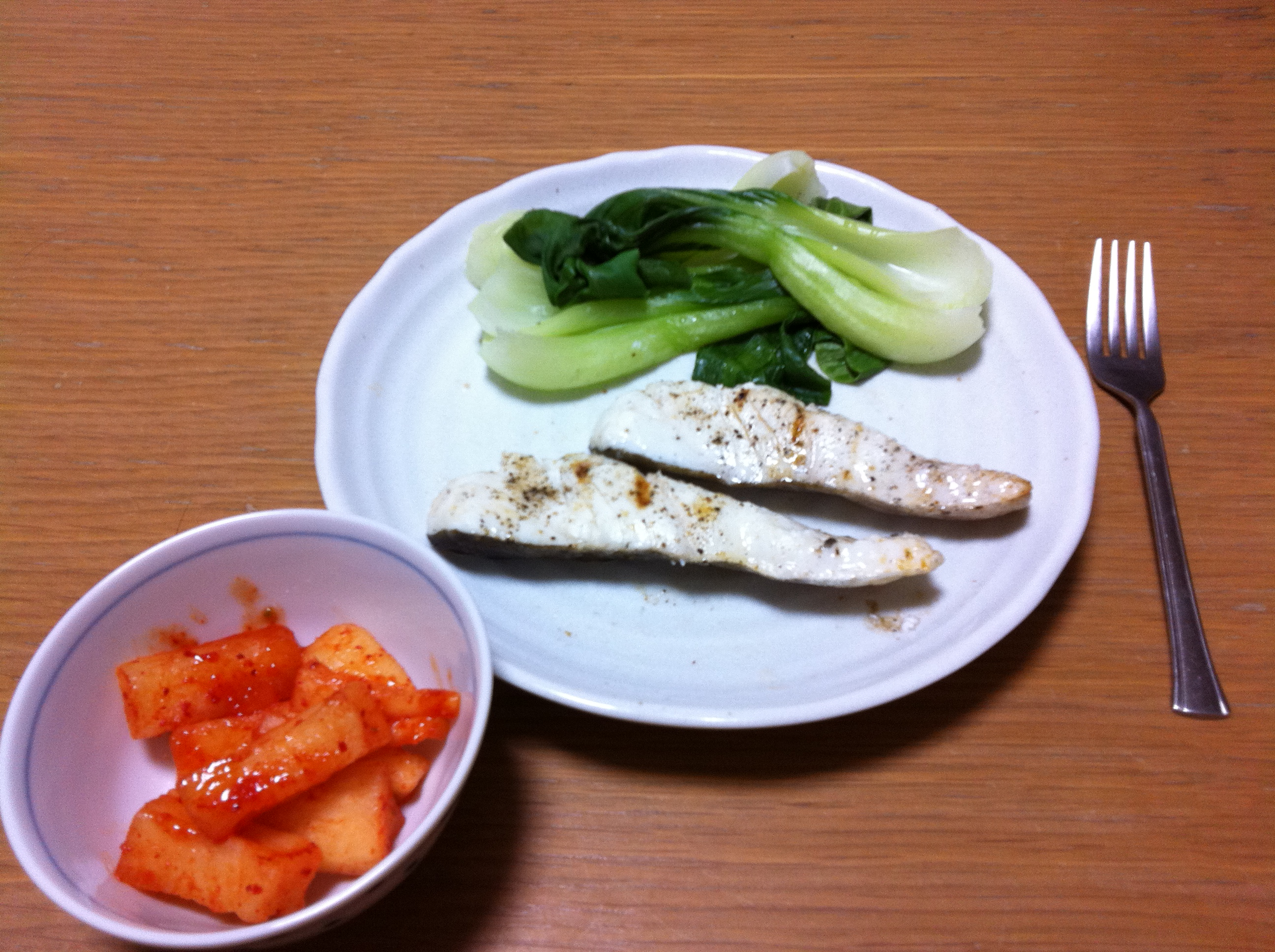 Broiled Cod and Steamed Bok Choy