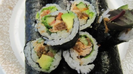 Cooking with Mom: Tuna Salad Sushi